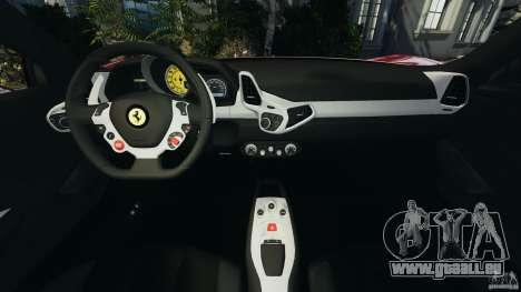 Ferrari 458 Italia 2010 v2.0 pour GTA 4 Vue arrière