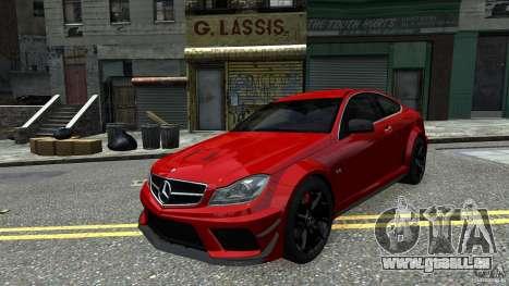 Mercedes Benz C63 AMG Black Series 2012 pour GTA 4