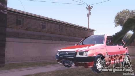 Fiat Uno Mile Fire Original pour GTA San Andreas sur la vue arrière gauche