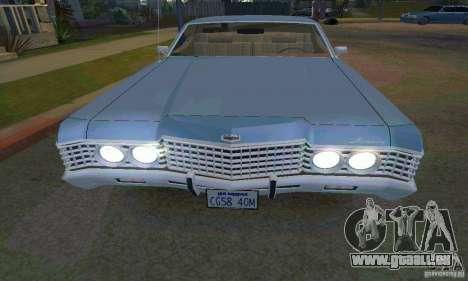 Mercury Monterey 1972 pour GTA San Andreas laissé vue