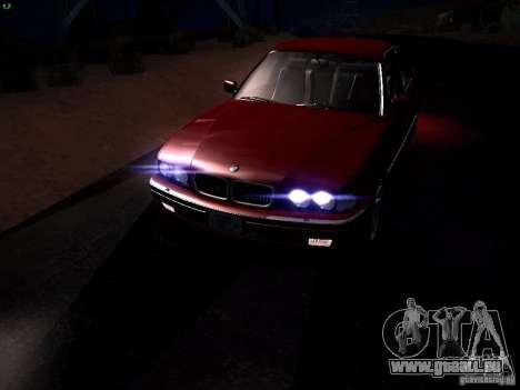 BMW 730i e38 1997 für GTA San Andreas Unteransicht