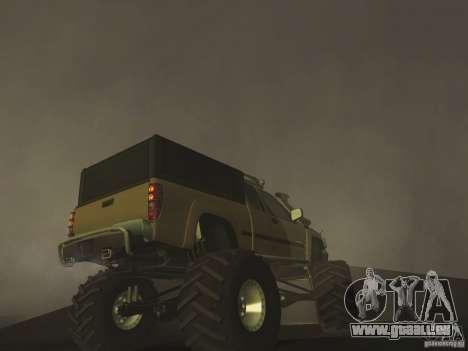 Chevrolet Colorado Monster pour GTA San Andreas vue arrière