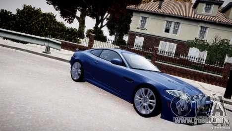 Jaguar XKR-S 2012 pour GTA 4 vue de dessus