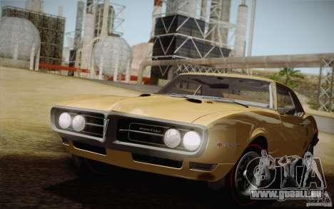 Pontiac Firebird 400 (2337) 1968 pour GTA San Andreas vue de côté