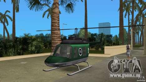 FBI Maverick für GTA Vice City Rückansicht