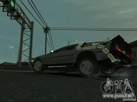 DeLorean BTTF 2 für GTA 4 rechte Ansicht