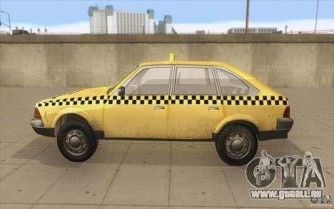 2141 Moskvitch AZLK Taxi v2 pour GTA San Andreas laissé vue