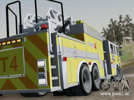 Pierce Arrow XT BCFD Tower Ladder 4 für GTA San Andreas Unteransicht