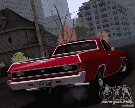 Chevrolet El Camino SS 70 Fixed Version pour GTA San Andreas laissé vue