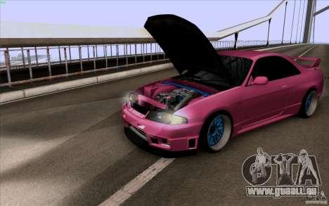 Nissan Skyline GTR 33 Fatlace pour GTA San Andreas laissé vue