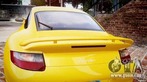 Porsche 911 (997) Turbo v1.0 pour GTA 4 vue de dessus