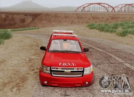 Chevrolet Suburban EMS Supervisor 862 pour GTA San Andreas vue intérieure