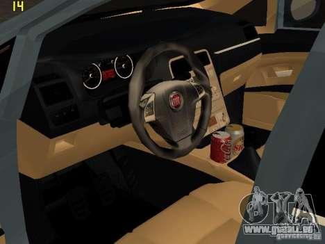 Fiat Linea T-jet pour GTA San Andreas sur la vue arrière gauche
