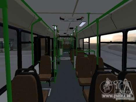 Autobus 6222 pour GTA San Andreas vue de dessous