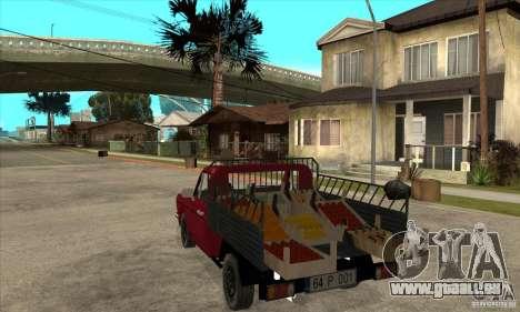 Anadol Pickup pour GTA San Andreas sur la vue arrière gauche