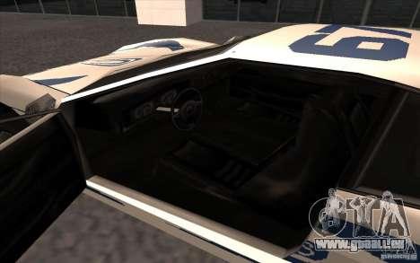 Le nouveau Turismo pour GTA San Andreas vue de droite