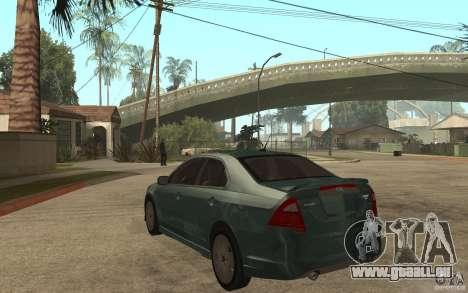 Ford Fusion 2010 für GTA San Andreas zurück linke Ansicht