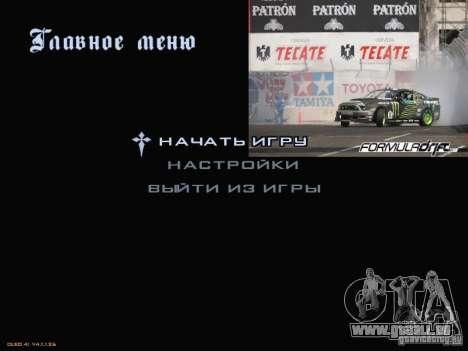 Formule menu de style Drift pour GTA San Andreas deuxième écran