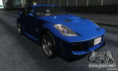 Nissan 350Z Varis für GTA San Andreas Rückansicht