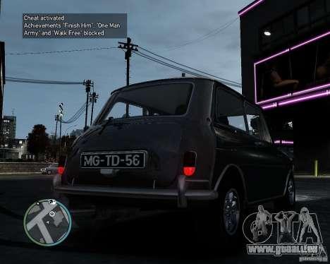 Austin Mini Cooper S pour GTA 4 Vue arrière de la gauche