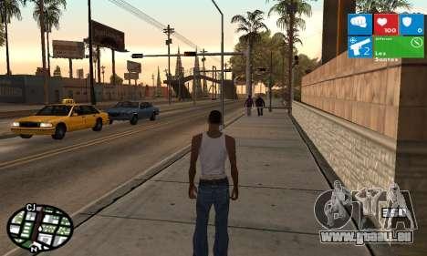 Windows 8 HUD pour GTA San Andreas