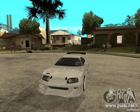 Toyota Supra M4K pour GTA San Andreas vue arrière