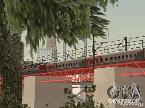 Voiture de tourisme RZD pour GTA San Andreas sur la vue arrière gauche