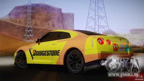 Nissan GTR R35 Tunable v2 pour GTA San Andreas vue de droite