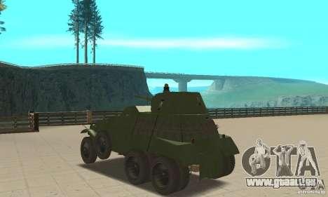 BTR BA-11 pour GTA San Andreas sur la vue arrière gauche