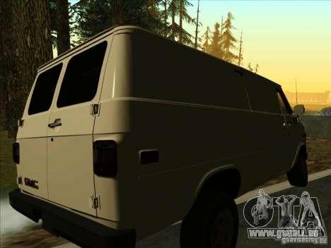 GMC Vandura C1500 für GTA San Andreas zurück linke Ansicht