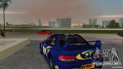 Subaru Impreza 22B Rally Edition pour GTA Vice City sur la vue arrière gauche