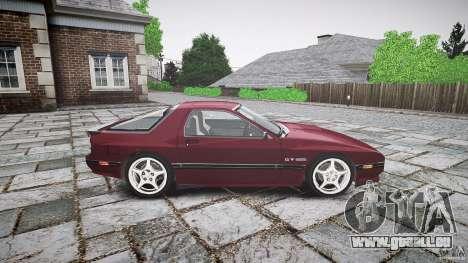 Mazda RX7 FC3S pour GTA 4 Vue arrière