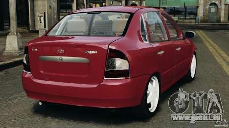 Vaz-1118 Kalina v1.1 pour GTA 4 Vue arrière de la gauche