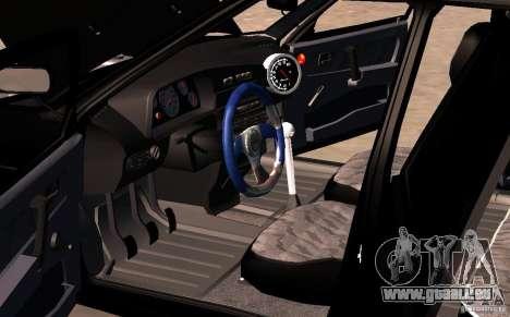 Vaz 2109 Centre côté v2.0 pour GTA San Andreas vue de dessus
