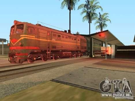 Diesel Lokomotive 2te10l für GTA San Andreas rechten Ansicht