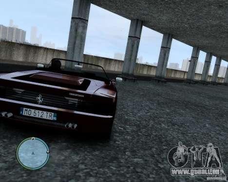 Ferrari Testarossa pour GTA 4 est une vue de l'intérieur
