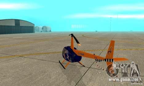 Robinson R44 Raven II NC 1.0 3 de la peau pour GTA San Andreas vue de droite