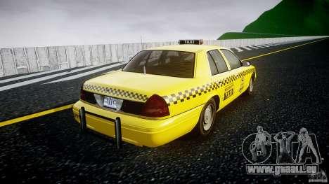 Ford Crown Victoria Raccoon City Taxi pour GTA 4 est une vue de l'intérieur