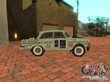Moskvich 412-Rallye-Version für GTA San Andreas zurück linke Ansicht