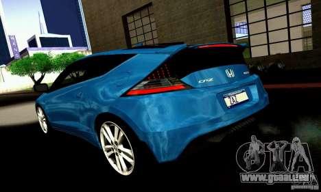 Honda CR-Z 2010 V2.0 für GTA San Andreas Rückansicht