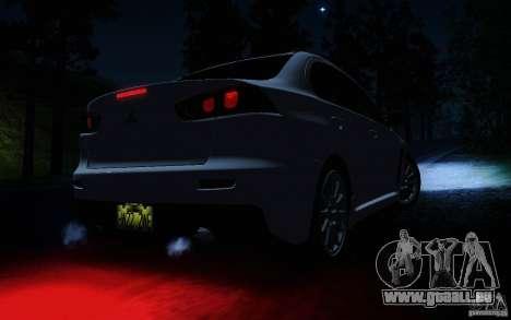 Mitsubishi Lancer Evolution X Tunable pour GTA San Andreas salon