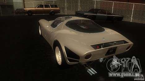 Alfa Romeo Tipo 33 Stradale pour GTA San Andreas sur la vue arrière gauche