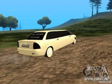 LADA Priora 2170 Limousine pour GTA San Andreas laissé vue
