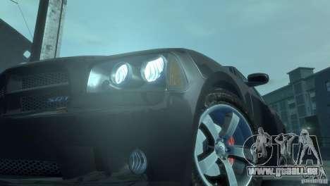 Dodge Charger 2007 SRT8 pour GTA 4 est une vue de l'intérieur