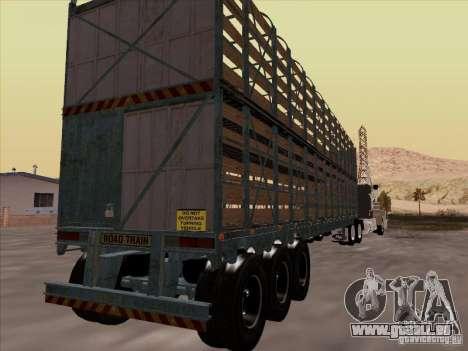 Trailer für Mack RoadTrain für GTA San Andreas rechten Ansicht