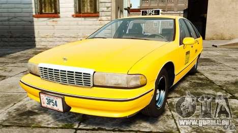 Chevrolet Caprice 1991 LCC Taxi pour GTA 4