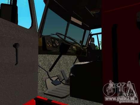 Feu Oural 5557-40 pour GTA San Andreas vue intérieure