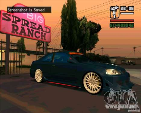 Honda Civic abgestimmt (korrigiert) für GTA San Andreas