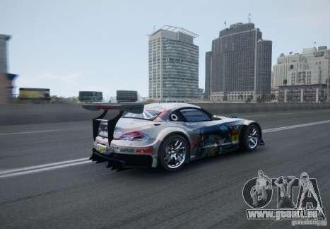 BMW Z4 GT3 2010 V.2.0 pour GTA 4 Vue arrière