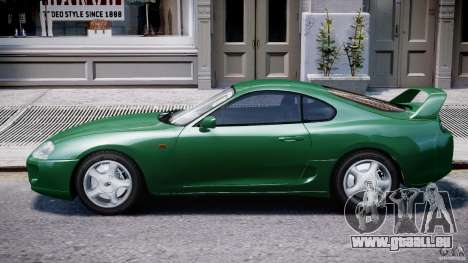 Toyota Supra MKIV 1995 v2.0 Final für GTA 4 obere Ansicht
